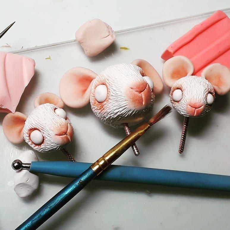 tete de souris polymère